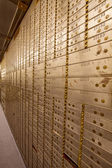 Bank Safe Deposit Boxes — Stock Photo