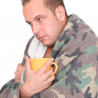 Royalty-Free Stock Photo: Sick man