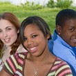 Three friends together — Stock Photo