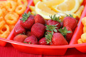 Snack plate vertical — Stock Photo