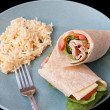 Turkey wrap - Stock Photo