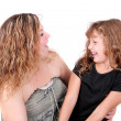 Mother and daughter laughing — Stock Photo #2036437