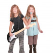 Two rockstar children — Stock Photo