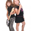 Rockstar children — Stock Photo