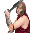 Greek warrior — Stock Photo
