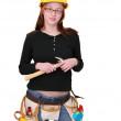 Construction woman — Stock Photo
