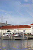 Boats and boathouse — Stock Photo