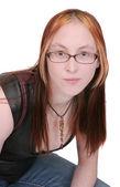 Ung kvinna headshot — Stockfoto