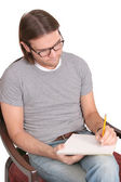 Seated writer — Stock Photo
