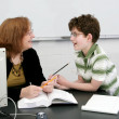 Teacher and student — Stock Photo