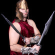 Greek warrior man — Stock Photo