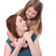 Sisters hugging — Stock Photo #2040836