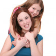 Sisters hugging — Stock Photo #2040866