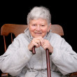 Stock Photo: Elderly lady sitting