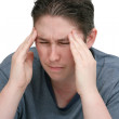 Worried headache man — Stock Photo