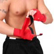 Wrapping boxing hands — Stock Photo