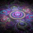 Colorful fractal art background - Stock Photo