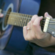 Playing guitar - Foto Stock