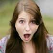 Very surprised woman — Stock Photo #2042457