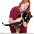 Nurse or veterinarian woman — Stock Photo #2042938