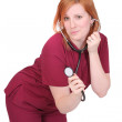 Nurse or veterinarian woman — Stock Photo
