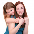 Sisters hugging — Stock Photo #2043116