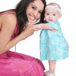 Stock Photo: Young mother and daughter