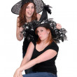 Stock Photo: 2 women witches