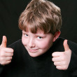 Two thumbs up boy — Stock Photo