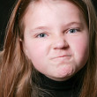 Funny angry young girl — Stock Photo