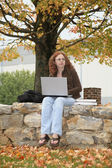Student outdoors — Stock Photo