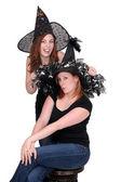 2 women witches — Stock Photo