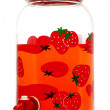 Stock Photo: Strawberry juice in jar