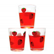 Three red glasses - Stock Photo