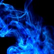 Stock Photo: Blue smoke cloud