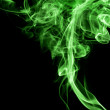 Green drug like smoke — Stock Photo