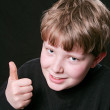 Thumbs up boy — Stock Photo