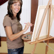 Smiling painter — Stock Photo