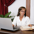 Office worker woman — Stockfoto