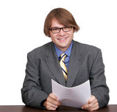One young businessman — Stock Photo