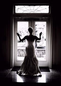 Bridal silhouette — Stock Photo