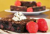 Fudge brownies — Stock Photo