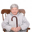 Senior with cane — Stock Photo
