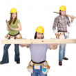 Three construction — Stock Photo