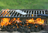 Outdoor bbq pit — Stock Photo