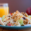 Stock Photo: Apple walnut salad