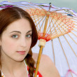 Royalty-Free Stock Photo: Parasol woman