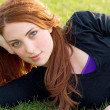 Redheaded girl — Stock Photo