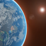 Постер, плакат: Planet in space