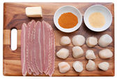 Bacon wrap scallops — Stock Photo